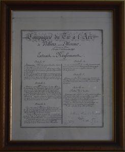 Règlement original de la Compagnie