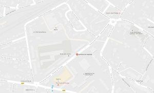 Localisation du gymnase Léo Lagrange